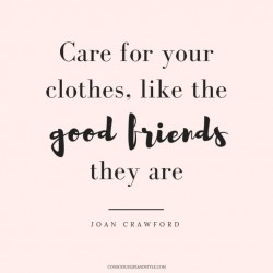 Care for your clothes