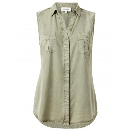 TENCEL SLEEVELESS SHIRT