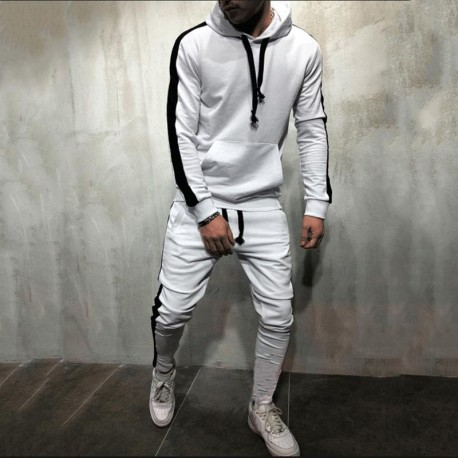Men Tracksuit 2019 Brand Autumn Winter Hooded Sweatshirt