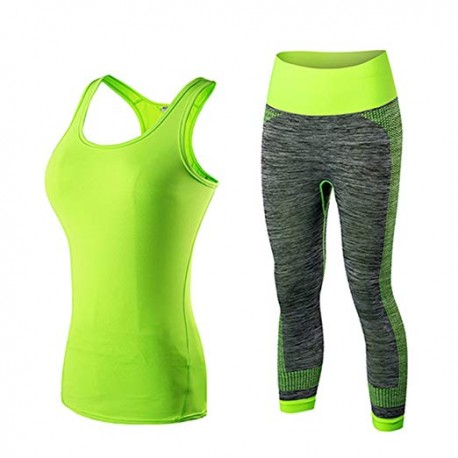 Gym Tank Top&Capri Pants Gym Yoga Sets