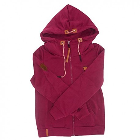 Women Fashion New Hoodie Jacket Zip Collar