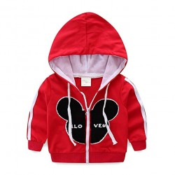 Kids Outfits Cartoon Zip Up Hoodies and Pants