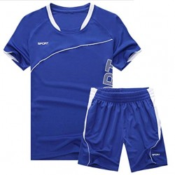 Active Short Sleeve T-Shirts Shorts 2 PCS