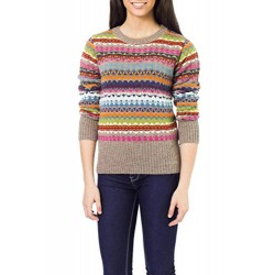 Multicolor 100% Alpaca Sweater