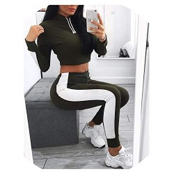 Crop Top Skinny Drawstring Legging Two Piece Set