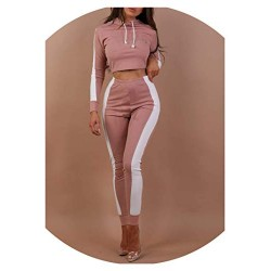 Women's Tracksuits Casual Long Sleeve Crop Top