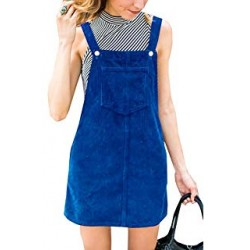 Corduroy Pinafore Bib Pocket Overall Dress