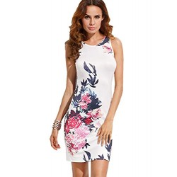 Women's Floral Print Sleeveless Summer Dresses
