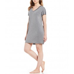 V-Neck Knit Sleep Shirt