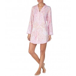 Print Sateen Sleep Shirt manufacturer