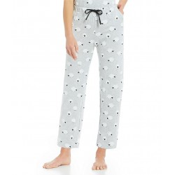 Printed Knit Cropped Sleep Pants