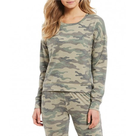 Camouflaged French Terry Sleep Top