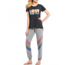 Love-Screen Print Jersey Sleep Tee