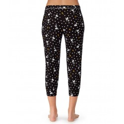 Printed Cropped Knit Sleep Pants