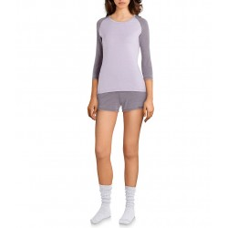 Washed Knit Raglan-Sleeved Sleep Top