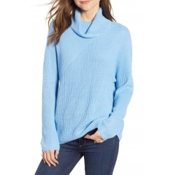 Stitch Interest Turtleneck Sweater
