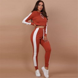 Gym Clothing Workout Two Piece Jumpsuit Crop Top