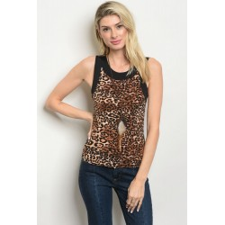 ANIMAL LEOPARD PRINT TOP
