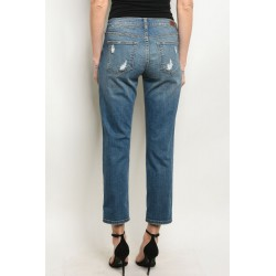 MEDIUM BLUE DENIM JEANS 1-1-2-2