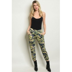 GREEN CAMOUFLAGE PANTS