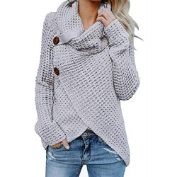 Womens Sweaters Casual Cowl Neck