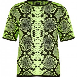 print knitted T-shirt