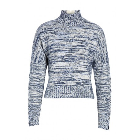 Mélange Knit Turtleneck Sweater