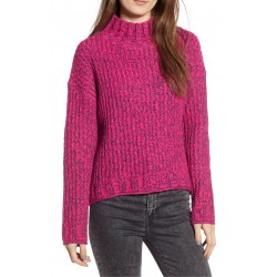 Stitch Mock Neck Sweater
