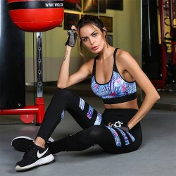 Yoga Set Women Fitness Gym Running Yoga Top