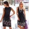 Sleeveless Floral Print Loose Dress
