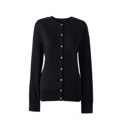 Black fine gauge supima cardigan