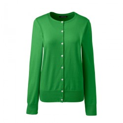 Green Fine Gauge Supima Cardigan