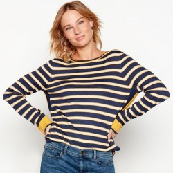Mustard stripe knit jumper