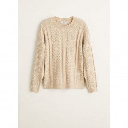 Beige cable knit 'Ocho' sweater