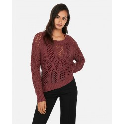 Cable Open Stitch Pullover Sweater
