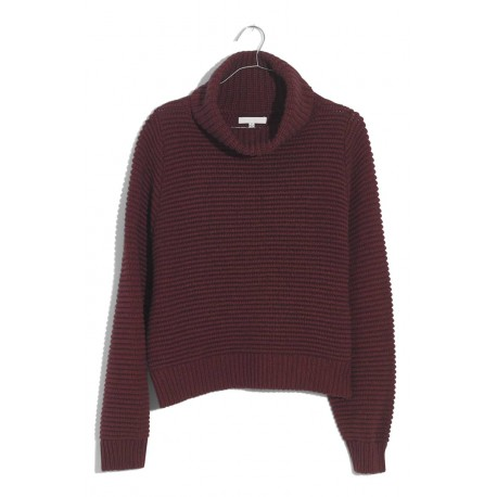 Side Button Turtleneck Sweater