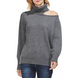 Turtleneck Cotton Blend Sweater