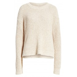 A mélange knit sweater