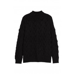 Texture Stitch Mock Neck Sweater