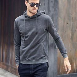 High Quality Plain Blank Hoodies 100% Cotton with Side Pockets