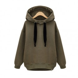 Wholesale Fashion Import Oversized Side Zipper Hoody