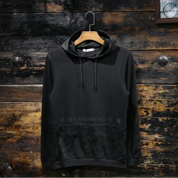 100% Polyester Camouflage Printing Black Men Pullover Hoodies