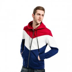 Wholesale Full Zipper Mens Fashion Hoodies with OEM Logo