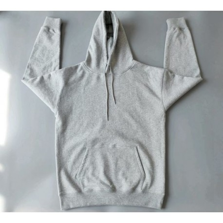 Unisex French Terry 100% Cotton Gray Hoodie