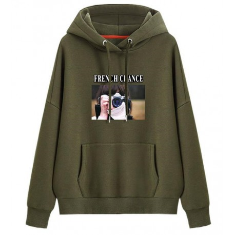 ODM&OEM Pullover Clothing Cotton/Polyester Hoody Picture Printing Women′s Hoodie