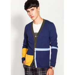 Classical V-Neck Assorted Colors Knit Men Cardigan
