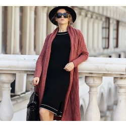 Women′s Cashmere Long Cardigan