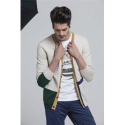 100%Cotton V-Neck Assorted Colors Knit Men Cardigan