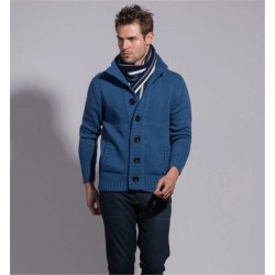 Fashion Knitted Garment Men′s Sweater Cardigan