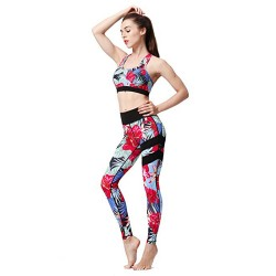 Womens Compression Fitness Workout Gym Running Pants Printed Leggings